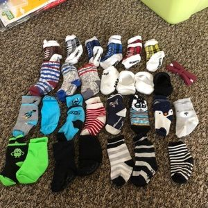 Other - 28 pairs of baby boy socks & a button on bow tie